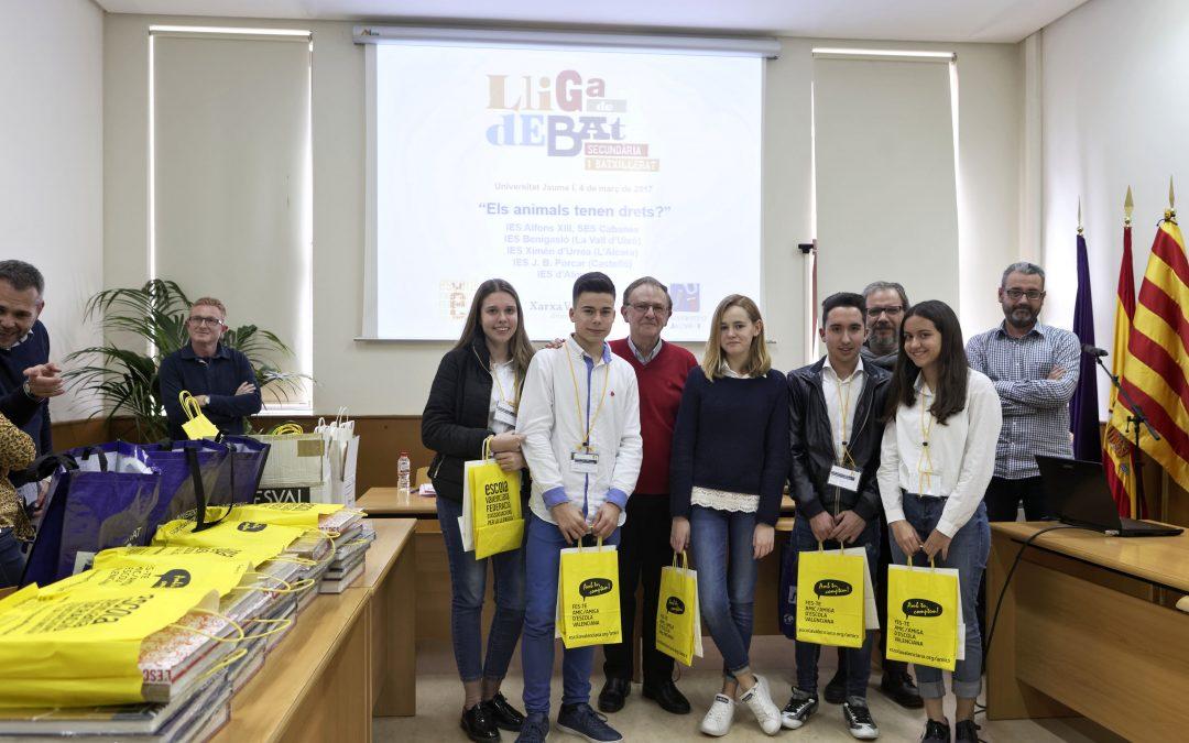 L'UJI estrena la nova edició de la Lliga de debat de Secundària i Batxillerat al País Valencià