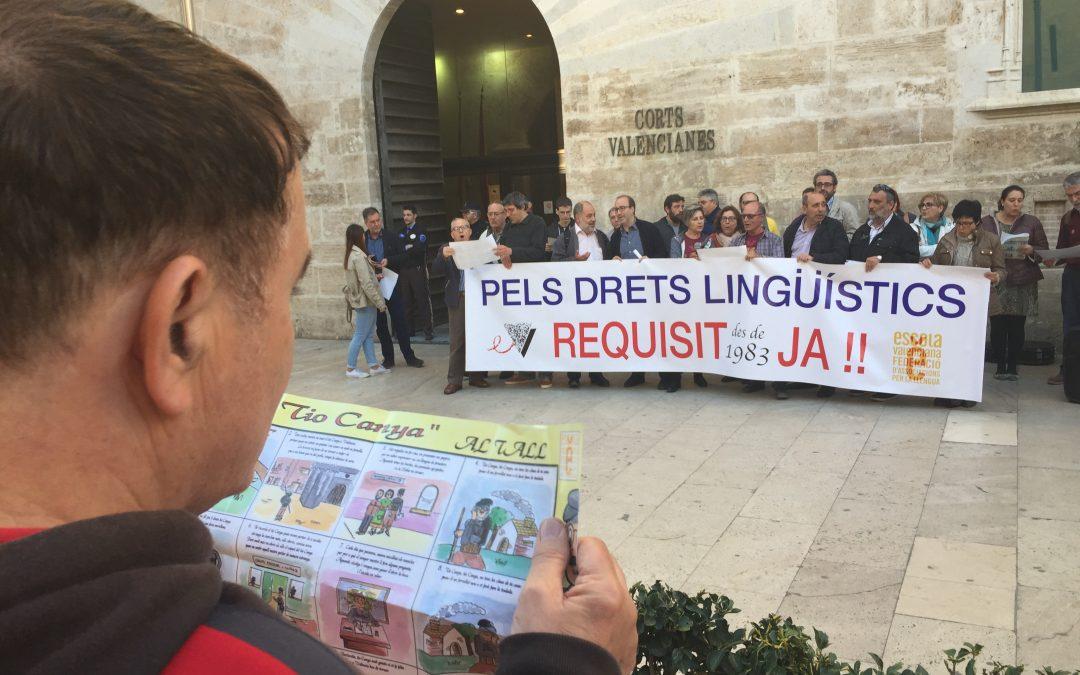 Escola Valenciana: «Un pas clau per normalitzar el valencià és incloure la competència lingüística en la nova llei de la funció pública»