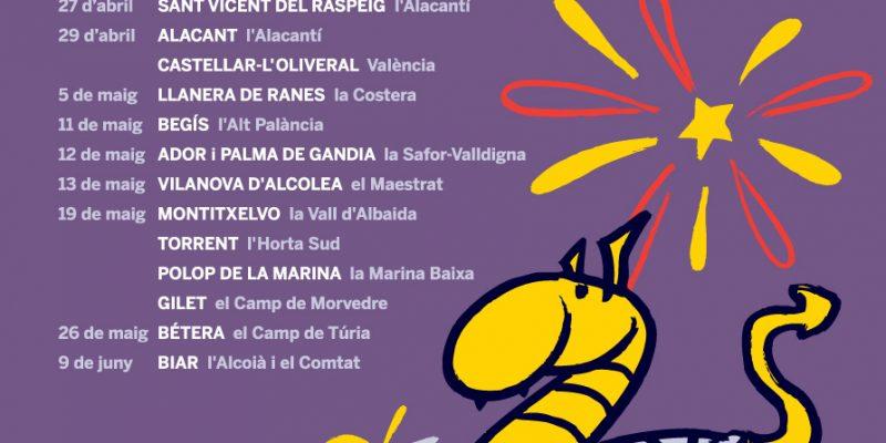Alcalalí, Elx, Alfara del Patriarca, Monòver i la Vall d'Uixó celebraran Trobades aquest cap de setmana