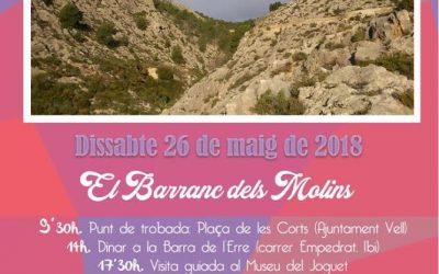 Contarelles i Camins visita el Barranc dels Molins i el Museu del Joguet d'Ibi