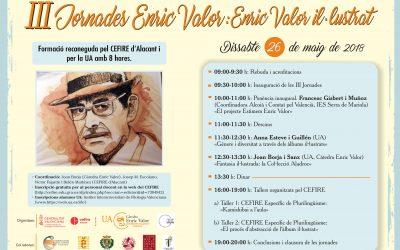 """El 26 de maig es desenvoluparan a Castalla les """"III Jornades Enric Valor: Enric Valor il·lustrat"""""""