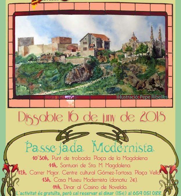 Contarelles i Camins organitza una ruta modernista a Novelda