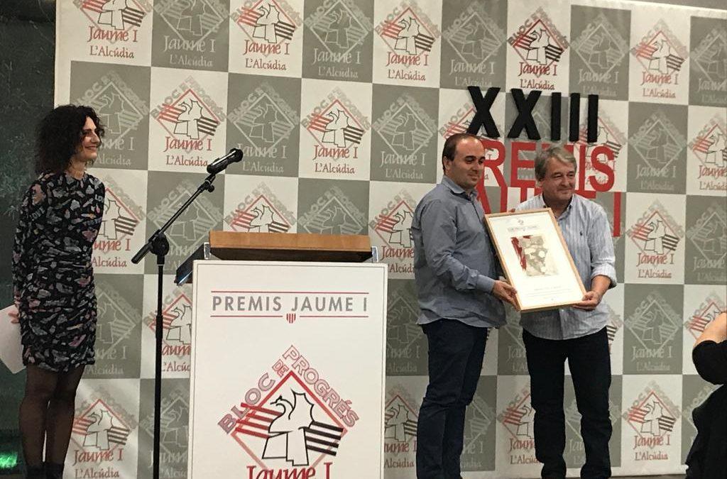 La Coordinadora pel Valencià de l'Alcoià i el Comtat rep el guardó 'Tio Canya' dels Premis Jaume I