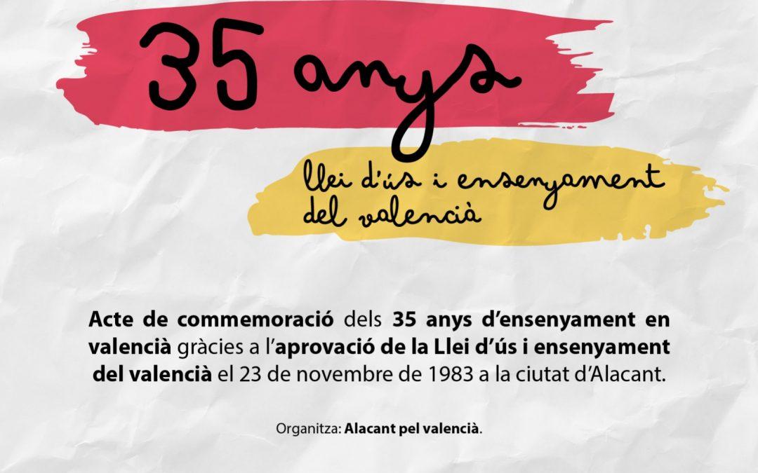 Alacant pel Valencià, amb la participació d'Escola Valenciana, commemora la LUEV