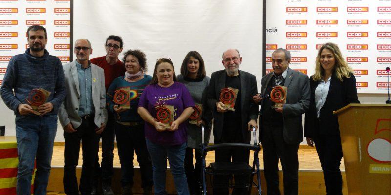 CCOO PV guardona amb el Marc Granell a l'ús i la promoció del valencià a La Cívica d'Alacant